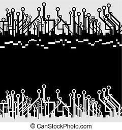 Tech style wallpaper