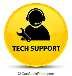 Tech support special yellow round button