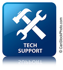 Tech support (tools icon) blue square button