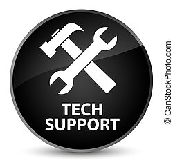 Tech support (tools icon) elegant black round button