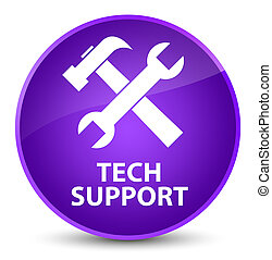 Tech support (tools icon) elegant purple round button