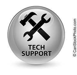 Tech support (tools icon) glassy white round button