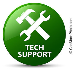 Tech support (tools icon) green round button
