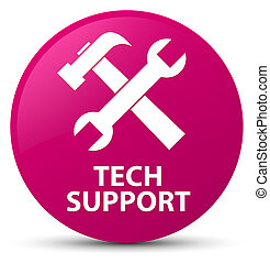 Tech support (tools icon) pink round button