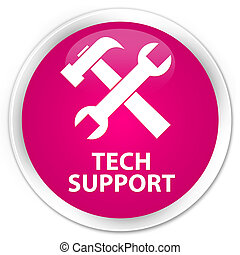 Tech support (tools icon) premium pink round button
