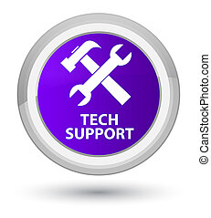 Tech support (tools icon) prime purple round button