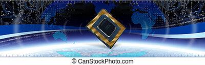 tech, számítógép, transzparens
