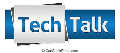 Tech Talk Blue Grey Horizontal