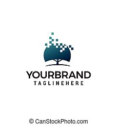 Tech Tree logo Design Template