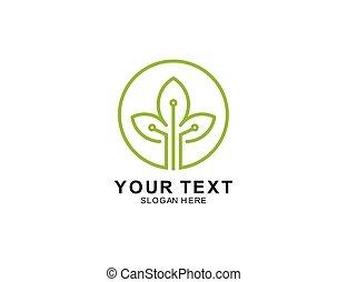 tech tree logo icon symbol inspiration template