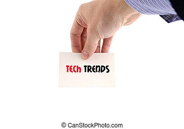Tech trends text concept