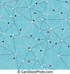 tech, triangulo, seamless, padrão