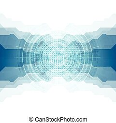 Tech vector blue abstract design
