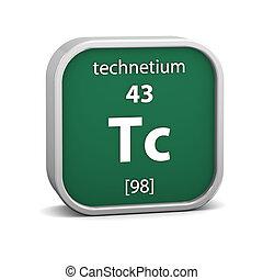 Technetium material sign