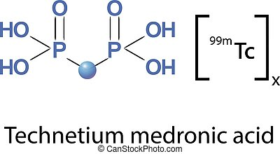 Technetium medronic acid is a pharmaceutical product used in nuclear medicine to localize bone metastases