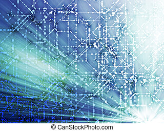 Technical abstract illustration - Abstract illustration of ...