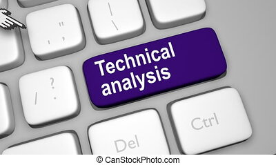 Technical analysis online concept shot clip