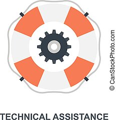 Technical Assistance icon concept