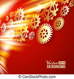 Technical background. Vector illustration.