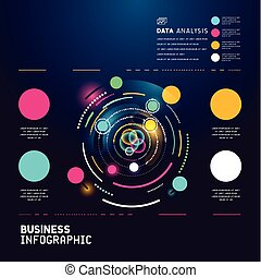 technical business  infographic