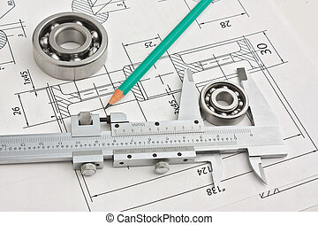 technical drawing and bearing
