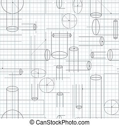 Technical Drawing Seamless Background