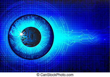 Technical Eye - illustration of abstract eye in ...