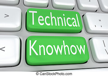 Technical Knowhow concept - 3D illustration of computer ...