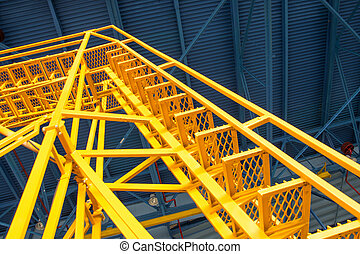 Technical ladder for maintenance of equipment in the hangar.
