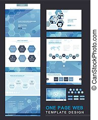 technical one page website template - one page website ...