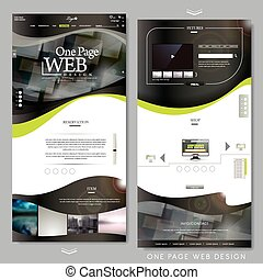 one page website template design in technical style
