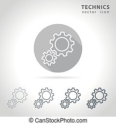 Technical outline icon