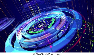 """""""Technical rings with rotating arrows"""" - """"Opt art 3d..."""