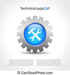 Technical support design - Technical support vector design