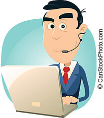 Technical Support - Error - Illustration of a cartoon...