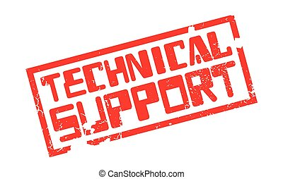 Technical Support rubber stamp. Grunge design with dust...