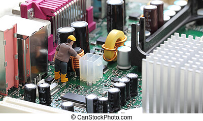 Technical Support - Macro photograph of a computer...