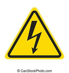 Voltage - technical warning signs; High Voltage