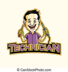 technician logo illustration design
