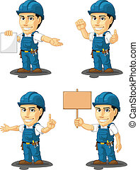 Technician or Repairman Mascot 12