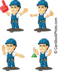 Technician or Repairman Mascot 13