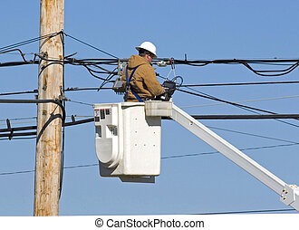 Technician working 1Technician working 2 - Cable technician...