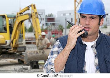 technicien, construction