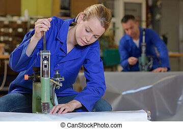 technicien, industriel, travail