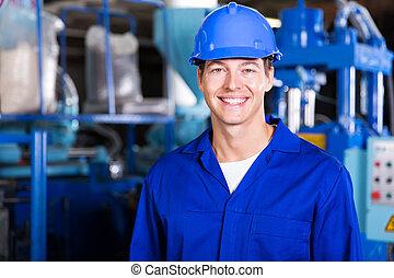 technicien, mâle, usine