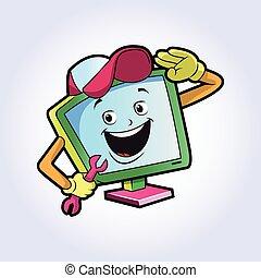 technicien ordinateur, caractère