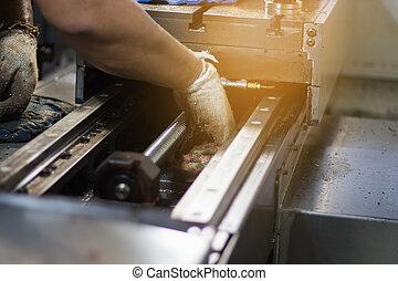 technicien, réparation, machine, entretien