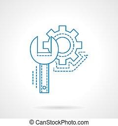 technický unést, konzervativní, prázdný zaměstnání, vektor, ikona