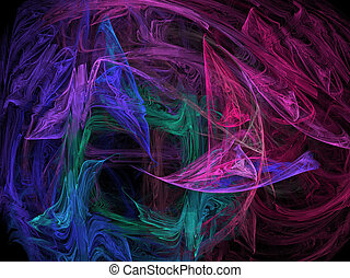 Technicolor - Floating swaths of color on black