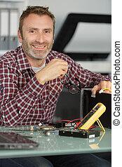 technicus, herstelling, computer